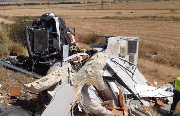 Fallece una vecina de Armuña (Guadalajara) al volcar en Buberos (Soria) la autocaravana en la que viajaba