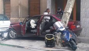 Grave accidente de tráfico en Albacete que afortunadamente quedó en un susto, ya que viajaba un bebé en uno de los vehículos