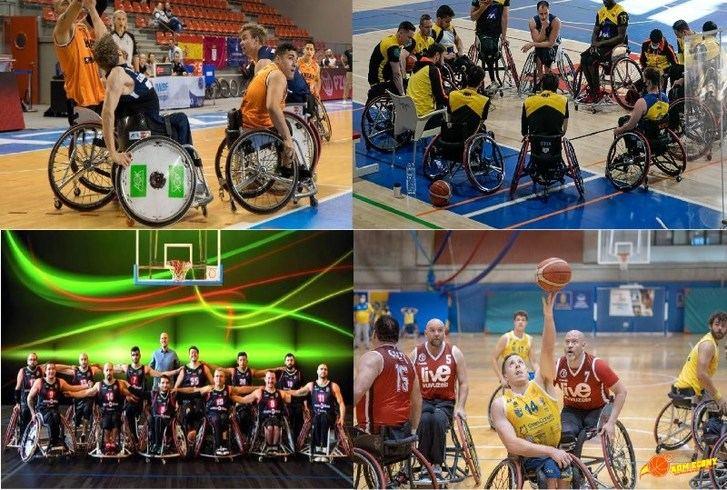BSR Amiab Albacete, Bidaideak Bilbao, Gran Canaria e Ilunion aspiran a conquistar la Copa de Campeones de baloncesto en silla