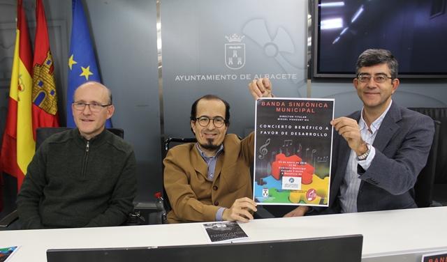 La Banda Sinfónica Municipal de Albacete ofrecerá el primer concierto del año a beneficio de la Asociación Desarrollo, el domingo 13