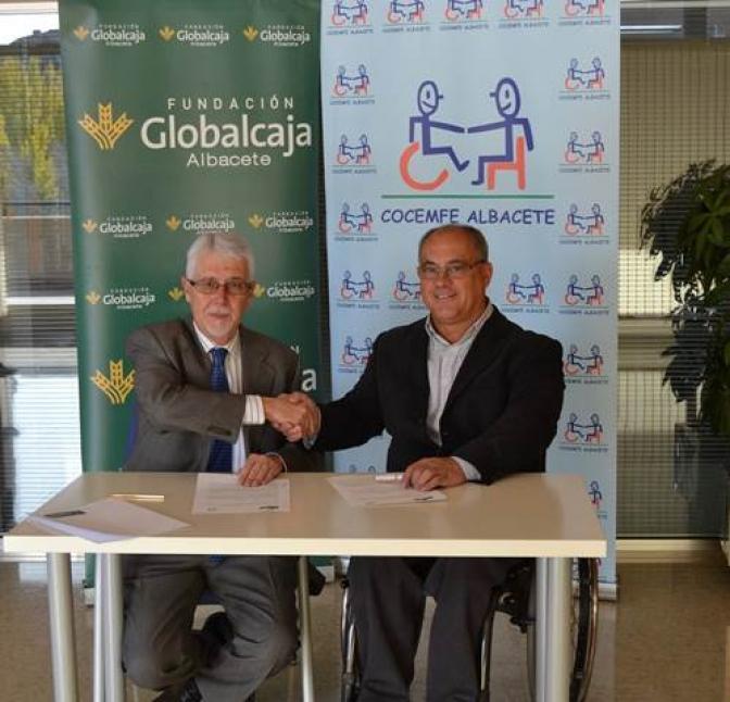 Convenio de la Fundación Globalcaja Albacete con Cocemfe Albacete