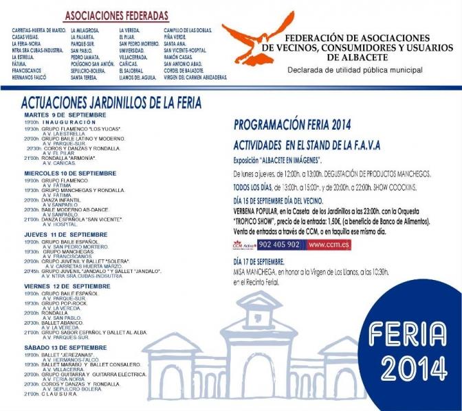 La FAVA ya tiene su programación de la Feria 2014