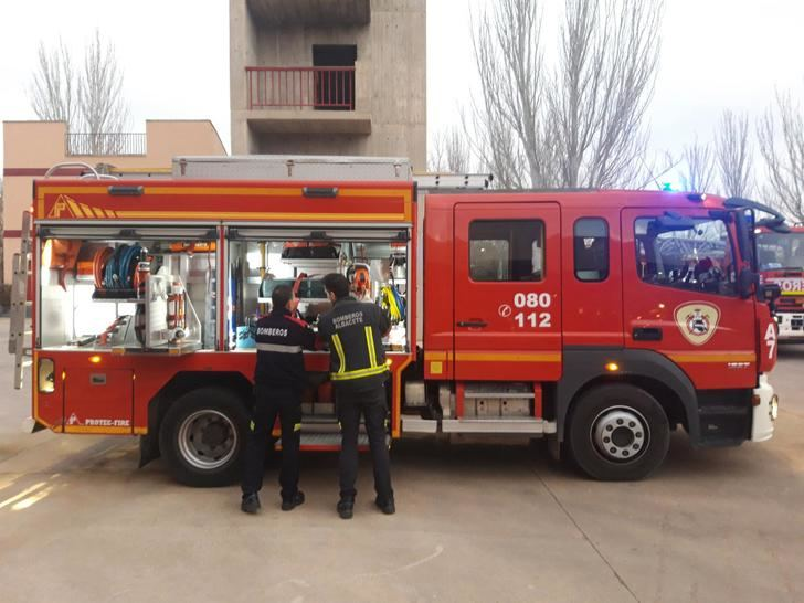 Imagen de archivo de un camión de bomberos de Albacete.