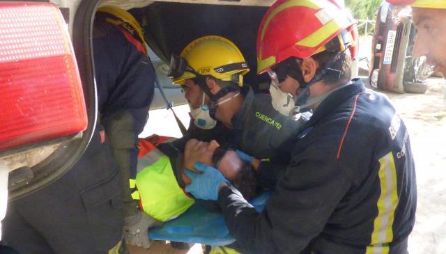 Bomberos de Castilla-La Mancha se forman en técnicas de intervención en accidentes de tráfico
