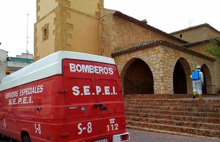 800 actuaciones de desinfección de los bomberos del SEPEI de la Diputación de Albacete durante la semana