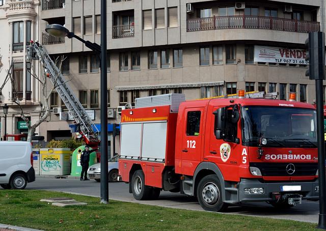 Imagen de archivo de camión de bomberos.