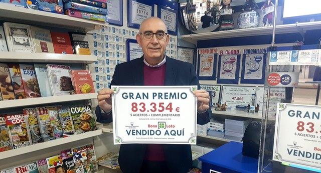 Premio de 83.000 euros en Albacete para una apuesta de Bonoloto validada en la Avenida de España