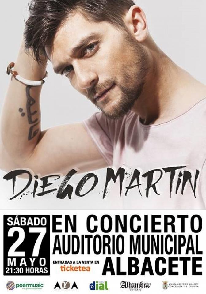 El cantante Diego Martín actuará en el auditorio de Albacete el día 27 de mayo