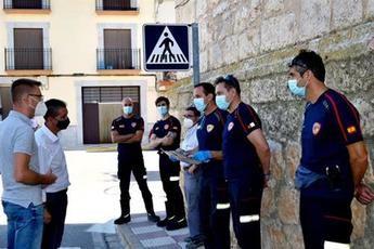 El presidente de la Diputación de Albacete destaca el trabajo del SEPEI en la desinfección de espacios públicos