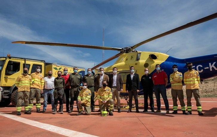 La campaña de extinción de incendios de Castilla-La Mancha contará con 259 medios y 334 contrataciones eventuales