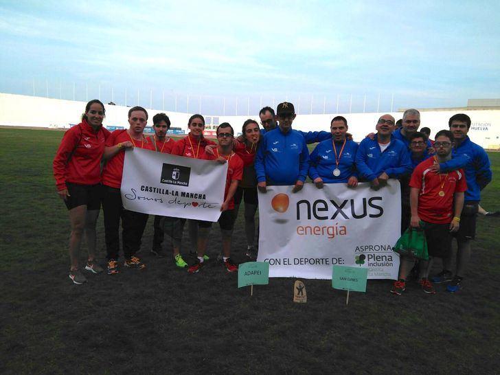 Deportistas de ASPRONA consiguen medallas en el 21º Campeonato de Atletismo en Puertollano