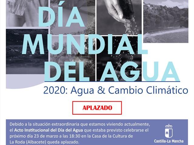 El Gobierno de Castilla-La Mancha aplaza la celebración del Día del Agua previsto para el 23 de marzo en La Roda