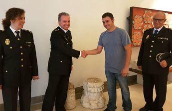 La Policía Nacional recupera un capitel del Palacio de los Duques de Medinaceli en Cogolludo (Guadalajara)
