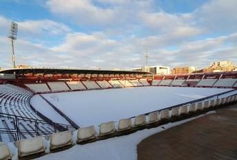 La nieve cubre los campos de fútbol de Albacete e impide entrenamientos de los equipos