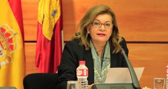Imagen de archivo de Carmen Amores, directora de CMM, cuando presentó el borrador del presupuesto de la tele regional para el 2018.