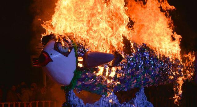 La quema de la sardina da por terminado el Carnaval 2018 de Albacete.