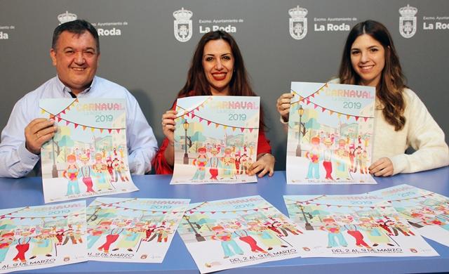 Un trabajo de la joven artista local Celia Valls será el cartel del Carnaval de La Roda 2019