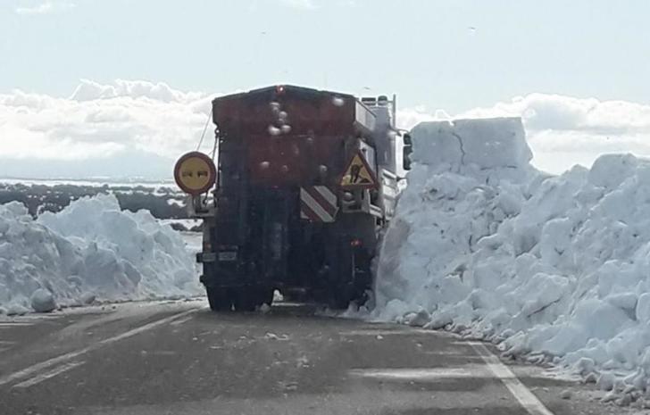 La zona más complicada por la nieve y el hielo en la provincia de Albacete es la de El Bonillo, Munera, Ballesteros y Carrascosa