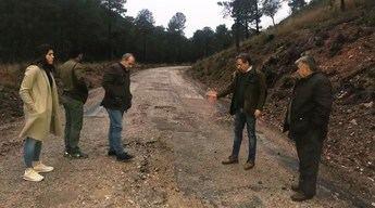 """El PP reclama la remodelación de la carretera """"tercermundista"""" entre el cruce de Paterna del Madera y Riópar (Albacete)"""