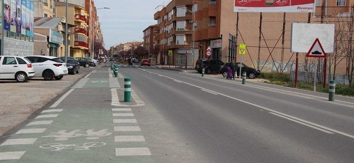 Albacete ultima los detalles para implantar el carril bici en las entradas por las carreteras de Valencia y Jaén