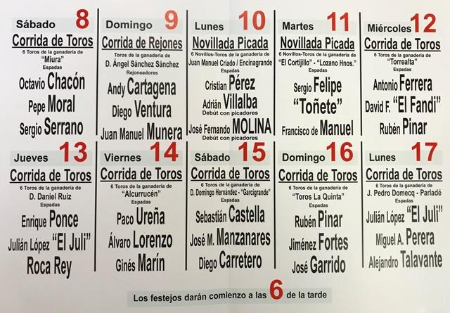 La Feria Taurina de Albacete 2018 ya tiene sus carteles cerrados