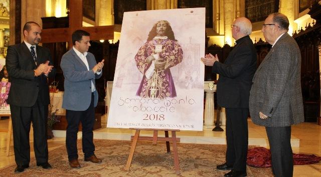 Un momento de la presentación del cartel de la Semana Santa de Albacete 2018