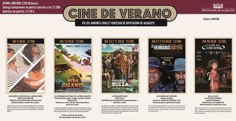 El 9 de julio comienza el III Ciclo de Cine de Verano de la Diputación de Albacete