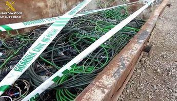 Desarticulada una organización criminal relacionada con el robo de cables de cobre en 10 provincias, entre ellas Ciudad Real