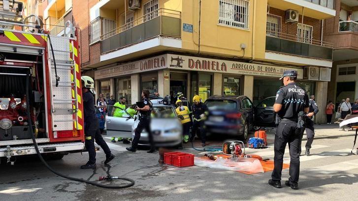 Un accidente en el cruce entre Octavio Cuartero y Torres Quevedo, en Albacete, pudo acabar con tragedia