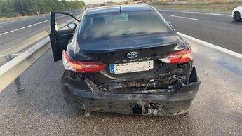 Este es el estado del coche tras el accidente.