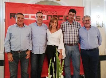 De izquierda a derecha: Venancia Cuenca, Paco de la Rosa, Mari Carmen Juste, 'El Pívot' y Juan Antonio Mata