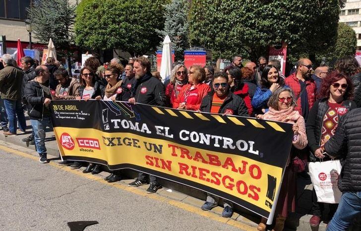 Los sindicatos piden en Albacete medidas para que Castilla-La Mancha no lidere los accidentes laborales