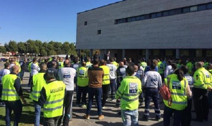 Page 'pasa' de los trabajadores en huelga del transporte sanitario en Castilla-La Mancha y rechaza hablar con ellos
