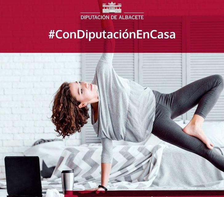 Los Circuitos Deportivos Provinciales de la Diputación de Albacete hacen más llevadero el confinamiento con la iniciativa #Condiputaciónencasa