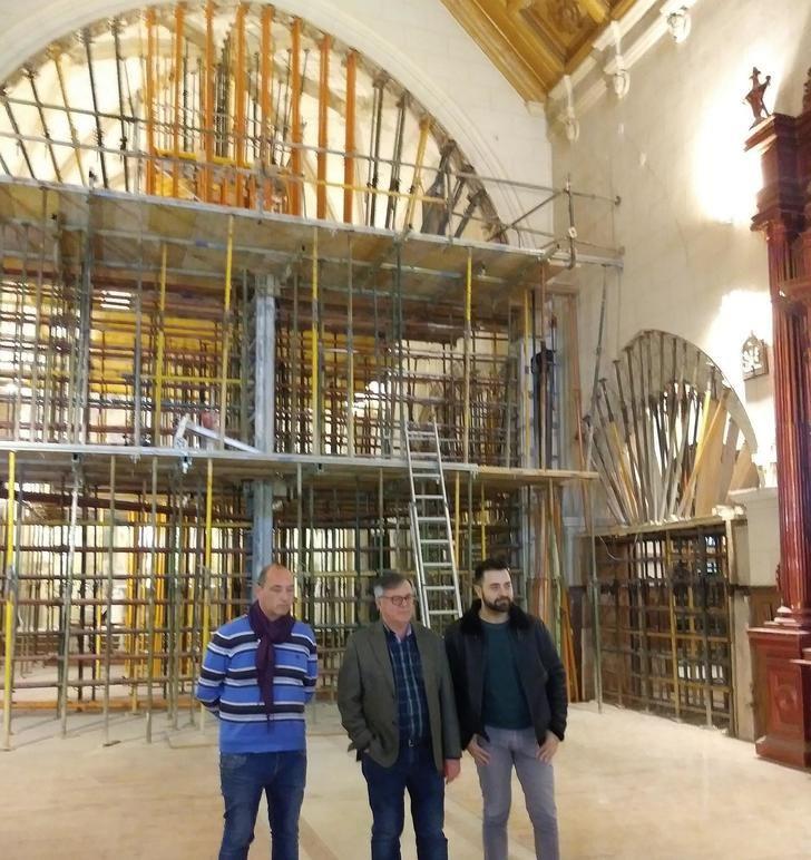 Las obras del Convento de Franciscanos de Hellín continúan a buen ritmo, según el alcalde