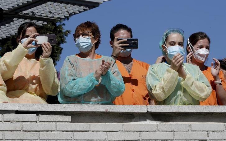 Imagen de archivo de personal de enfermería de un hospital.
