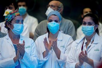 Imagen de archivo de enfermeras en momentos difíciles del coronavirus