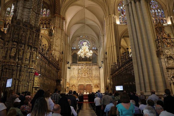 Celebración del Corpus en la Catedral de Toledo.