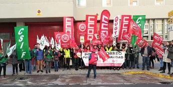 Satisfacción de los sindicatos de Castilla-La Mancha por el seguimiento de la primera jornada de la huelga de Correos