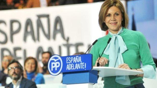 Maria Dolores Cospedal en el congreso del PP de febrero del año pasado.