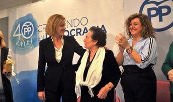 La ministra Cospedal en el acto que tuvo lugar en Guadalajara.
