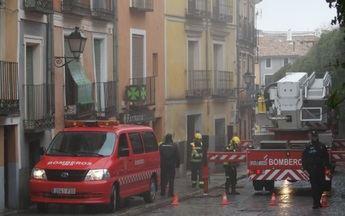 Incendio en la calle Alfonso VIII de Cuenca.
