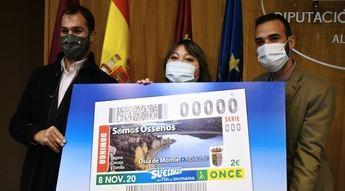 Presentado en la Diputación de Albacete el cupón de la Once del 8 de noviembre, dedicado a los naturales de Ossa de Montiel