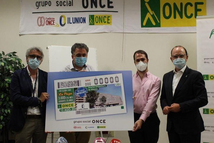 El Hospital General Universitario de Albacete protagoniza el cupón de la ONCE del próximo 13 de agosto