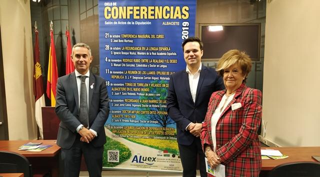 Aluex abrirá su ciclo de conferencias el próximo lunes en el salón de actos de la Diputación de Albacete