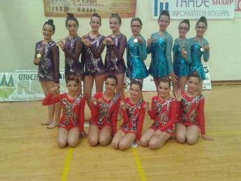 Oro, plata y bronce para las gimnastas rodenses en la I Fase Provincial de gimnasia rítmica