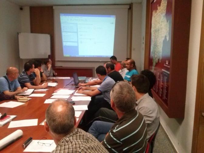 Reunión del comité organizador de la I Copa BTT-Desafío Albacete para cerrar recorridos de las etapas