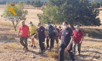 La Guardia Civil rescata a un hombre de 76 años desaparecido en Letur (Albacete)