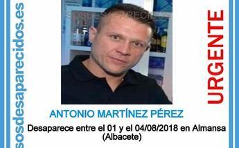 Un detenido tras la aparición de un cadáver en Almansa que puede ser de Antonio, desaparecido en agosto