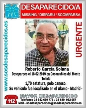 Ya hace dos años que desapareció Roberto García en Casarrubios (Toledo) y la Guardia Civil sigue investigando